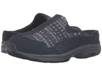 Easy Spirit Traveltime 224 Navy Navy Multi Suede Women's Shoes Black
