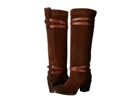 Frye Jane Strappy Brown Oiled Suede Women's Boots