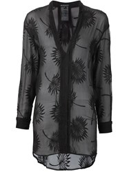 Ann Demeulemeester Sheer Embroidered Tunic Black