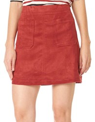 Sanctuary Serena Solid A Line Skirt Brooklyn Brick