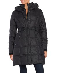 Larry Levine Belted Down Puffer Coat Black