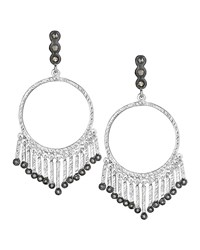 Spring Silver Open Circle Earrings With Diamonds Coomi