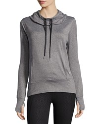 Marika Tek Hooded Mesh Back Sweatshirt Heather Gray