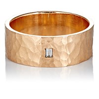 Zoe Women's Baguette Diamond And Rose Gold Hammered Band No Color