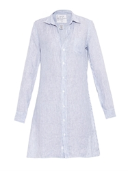 Frank And Eileen Murphy Striped Linen Shirt Dress
