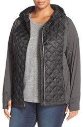 Michael Michael Kors Plus Size Women's Water Repellent Quilted Down Jacket Black Print