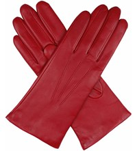 Dents Cashmere Lined Leather Gloves Berry