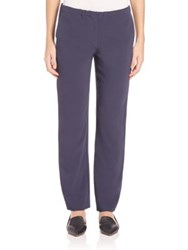 Max Mara Solid Cropped Trousers Ultramarine