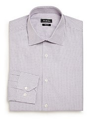 Saks Fifth Avenue Slim Fit Cotton Dress Shirt Light Purple