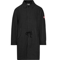 Cav Empt Cotton Blend Twill Coat Charcoal