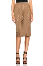 Alexander Wang Fitted Pencil Skirt With Intarsia Split Stripe In Brown
