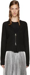 J.W.Anderson Black Zip Front Sweater