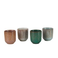 Pols Potten Japan Stripe Cups Set Of 4