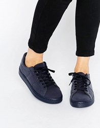 Asos Drew Lace Up Trainers Navy