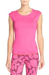 Adidas By Stella Mccartney 'The Perf' Climalite Tee Hot Pink