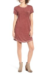 Rvca Women's So Chill Open Back T Shirt Dress Rosewood