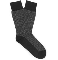 Hugo Boss Cotton Cashmere And Silk Blend Socks Black