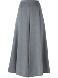 P.A.R.O.S.H. Cropped Wide Leg Trousers Grey