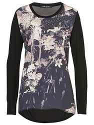 Betty Barclay Floral Print Tunic Black Camel