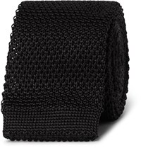 Burberry Knitted Silk Tie Black