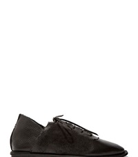 Petrucha Studio Petrucha Waxed Leather Lace Up Shoes Black