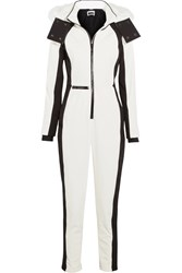 Topshop Sno Starman Faux Fur Trimmed Hooded Ski Jumpsuit White
