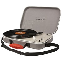 Crosley Messenger Portable Turntable With Three Speeds Grey
