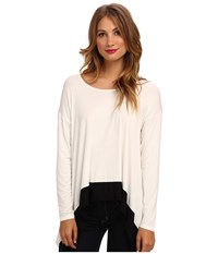 Kensie Lightweight Viscose Mb Top String Combo Women's Blouse White