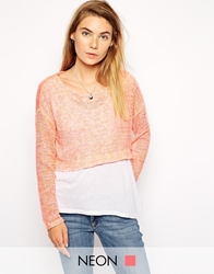 American Retro Laura Cropped Jumper Coral