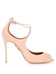 Aquazzura Zani Suede Pumps Light Pink