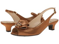J. Renee Jadan Bronze Glimmer Satin Women's 1 2 Inch Heel Shoes Brown