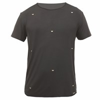 Wiino Clothing Crown Embroidered Silk Tee Black