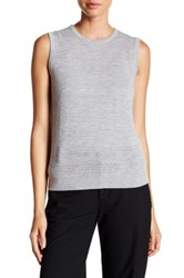 Yigal Azrouel Woven Combo Cashmere Sweater Gray