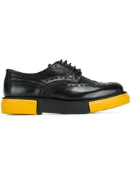 Emporio Armani Bi Colour Brogues Black