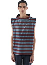 Emiliano Rinaldi Oversized Striped Sailor Tank Top Blue