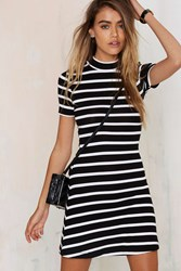 Nasty Gal After Party Vintage Stripe Sense Tee Dress