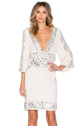 Tessora Short Caftan Dress Ivory
