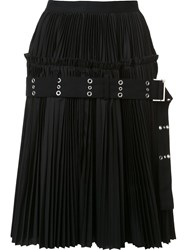 Sacai Classic Shirting A Line Skirt Black