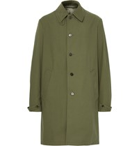 Maison Martin Margiela Cotton Blend Coat Green