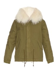 Mr And Mrs Italy Fur Lined Canvas Parka Khaki