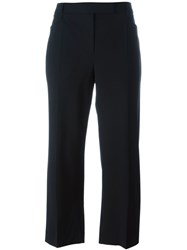 Brunello Cucinelli Tailored Cropped Trousers Black