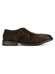 Marsell Marsell Distressed Monk Shoes Brown