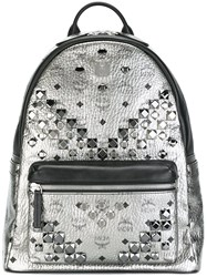 Mcm Medium 'Stark' Backpack Metallic