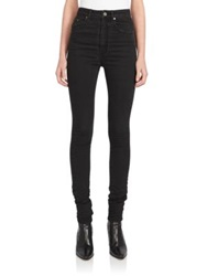 Saint Laurent High Waist Super Stretch Jeans Nero
