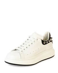 Alexander Mcqueen Studded Leather Low Top Sneaker White