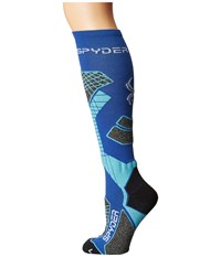 Spyder Zenith Sock Bln Freeze White Women's Knee High Socks Shoes Blue