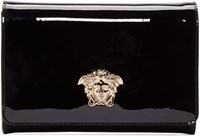 Versace Black Patent Leather Evening Clutch