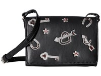 French Connection Hazel Crossbody Charm Black Cross Body Handbags