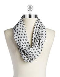 William Rast Star Loop Scarf Black