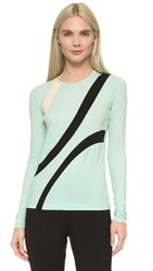 Narciso Rodriguez Long Sleeve Jersey Top Mint